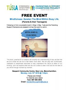 Mindfulness: Quieten the mind within a busy life @ Bee Park Community Centre