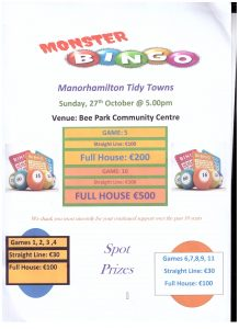 Monster Bingo @ Bee Park Community Centre