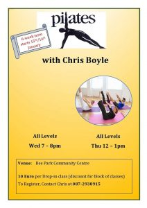 Pilates with Chris @ Bee Park Community Centre